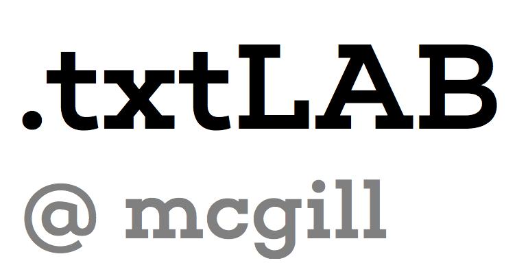 .txtLAB @ mcgill