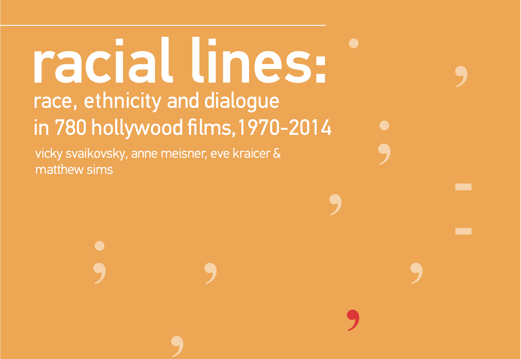 """Our first """"collaboration"""": Racial Lines"""